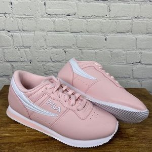 NWT pink leather FILA sneakers
